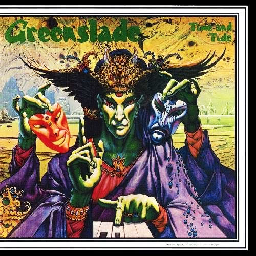 Cover of Greenslade's Time and Tide designed by Patrick Woodroffe.