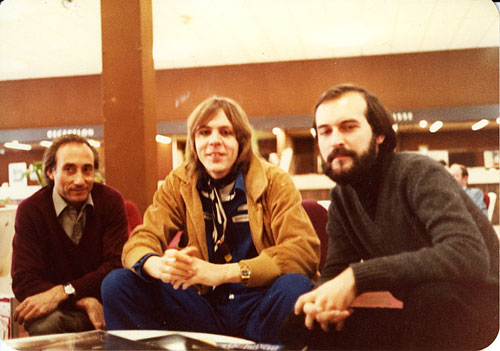From left to right: Tomás Gilsanz, Klaus Schulze and Michel Huygen