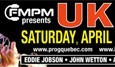 Progressive rock band U.K. is scheduled to perform on Saturday April 27, 2013 at intimate 400-seat Gesù amphitheater in Montreal. UK 2013 features founders Eddie Jobson and John Wetton along...