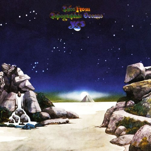 Cover of Yes' Tales From Topographic Oceans, designed by Roger Dean